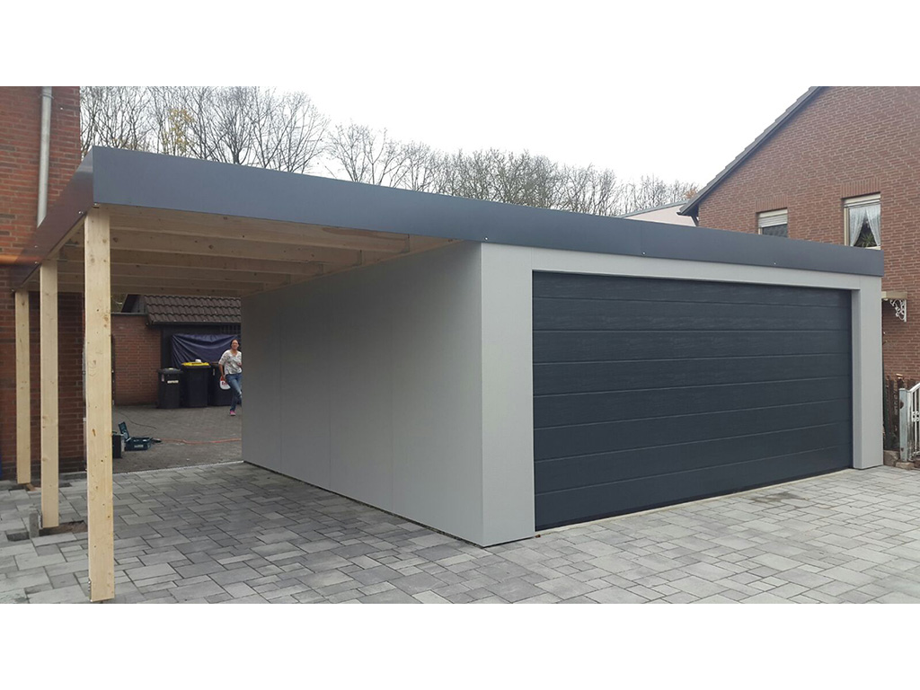 fertiggarage mit anbau fertiggarage mit carport anbau carport 2017 fertiggarage mit anbau gro. Black Bedroom Furniture Sets. Home Design Ideas