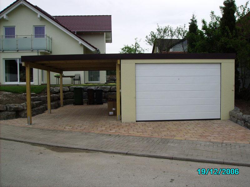fertiggarage garagen carport kombination 9. Black Bedroom Furniture Sets. Home Design Ideas