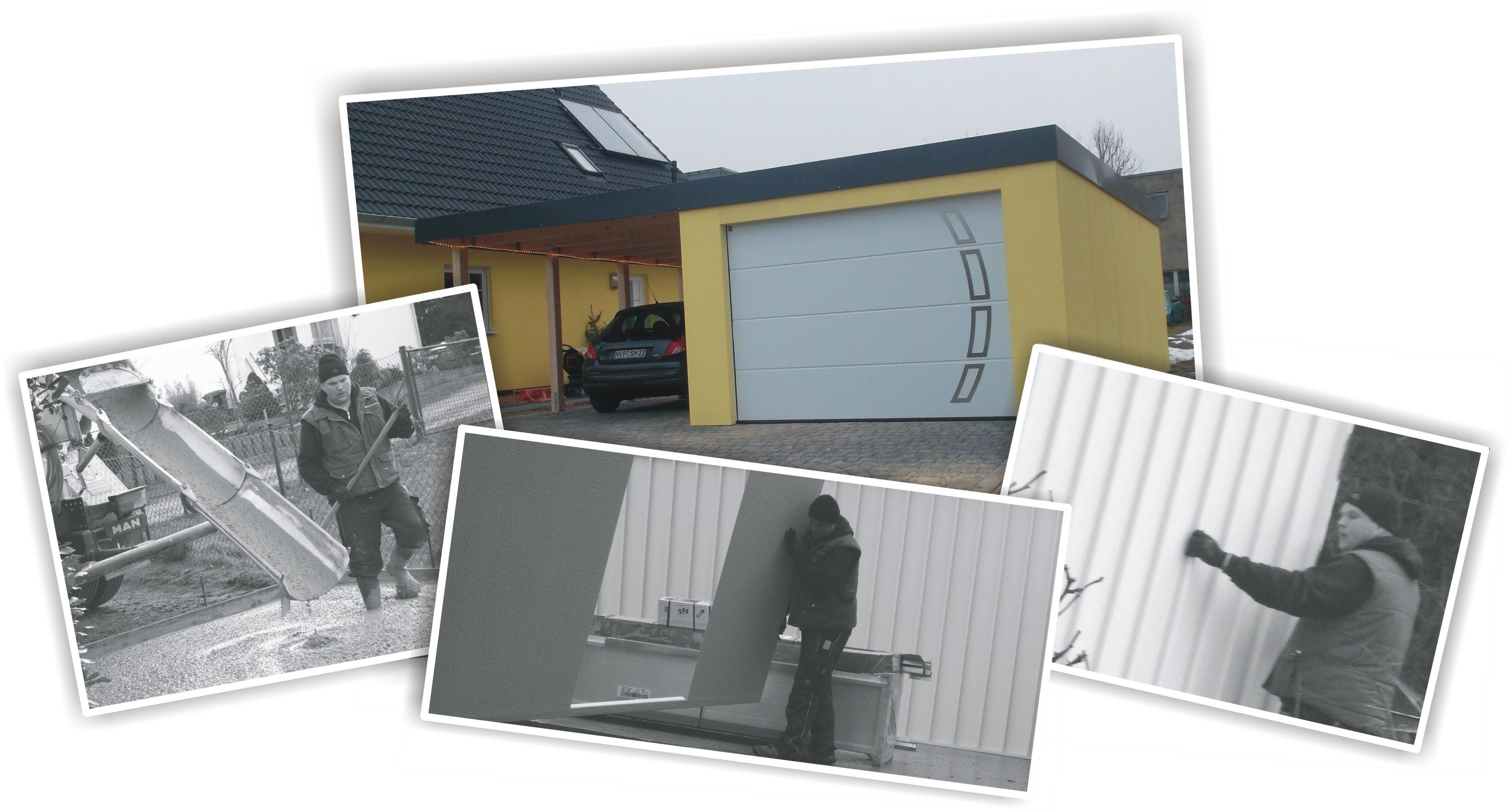montage und aufbau von garagen fertiggaragen carports. Black Bedroom Furniture Sets. Home Design Ideas