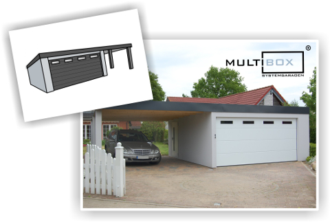 garagen carport kombination als fertiggarage. Black Bedroom Furniture Sets. Home Design Ideas