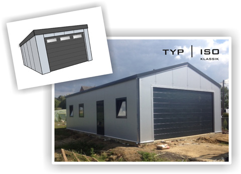 Perfect Systembox Fertiggarage Typ ISO Klassik