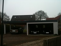 Fertiggarage mit Carport