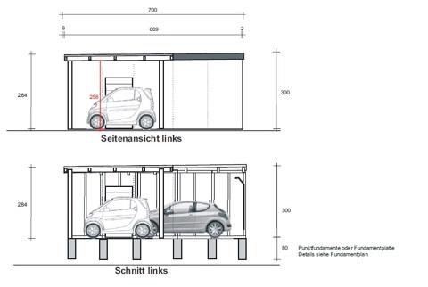 eine fertiggarage mit carportanbau als sonderl sung extra hoch extra breit in k ln. Black Bedroom Furniture Sets. Home Design Ideas