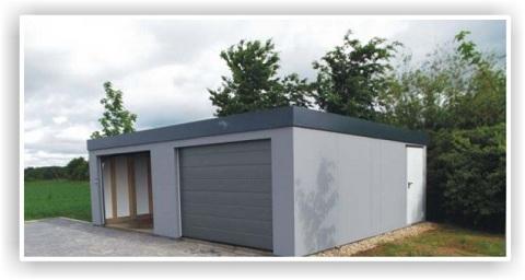 Die New Isobox Fertiggarage Eine Isolierte Garage In