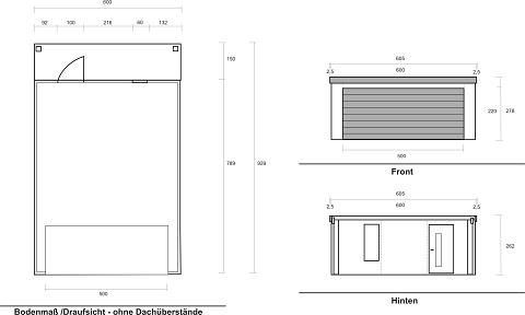 Fertiggarage grundriss  Fertiggarage mit Überdachung auch das ist möglich