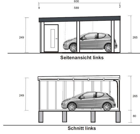 Eine Doppelgarage in Holzständerbauweise mit Carportanbau – Komfort ...