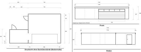 Fertiggarage grundriss  Großer Doppelstellplatz und Lagerraum in einer Fertiggarage
