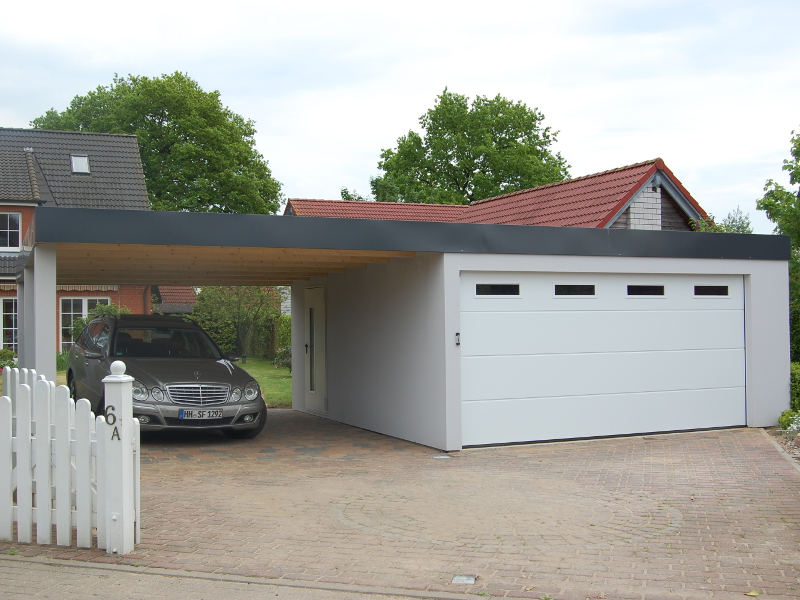 Garagen Carport Kombination 2