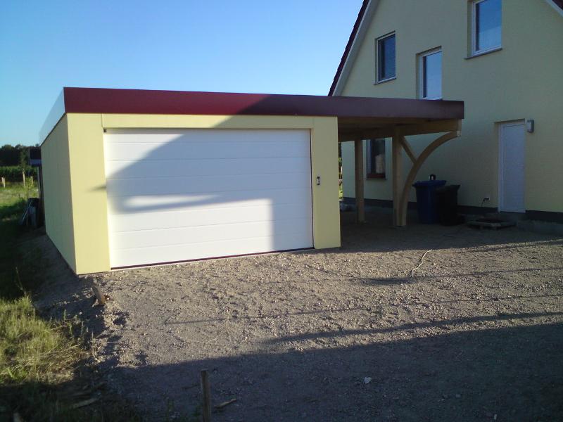 garagen carport kombination als fertiggarage. Black Bedroom Furniture Sets. Home Design Ideas