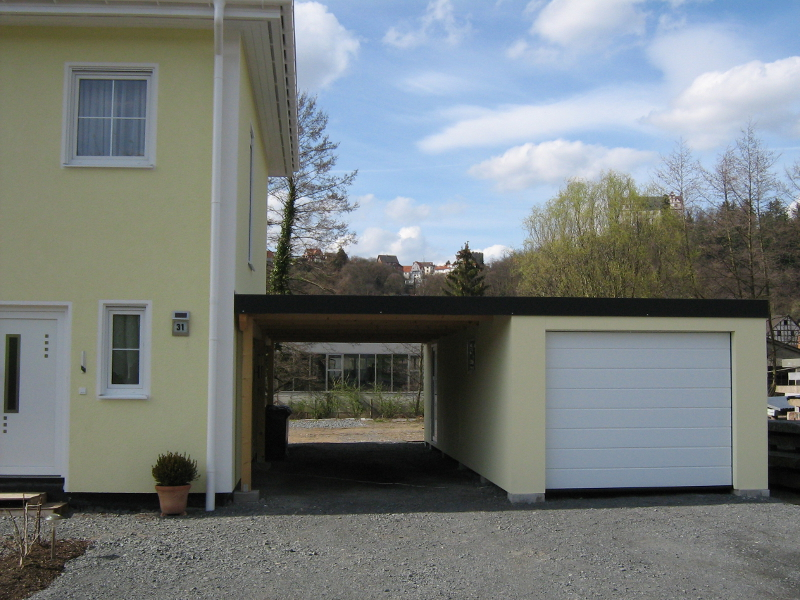 Garagen carport kombination als fertiggarage